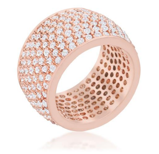 BAUBLE BOX Andrea 3ct CZ Rose Gold Wide Pave Band $ 39.00 Compare at: $ 185.00