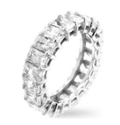 Bauble Box Ariana 6.2ct White Gold Radiant CZ Eternity Band $ 44.00 Compare at: $ 170.00