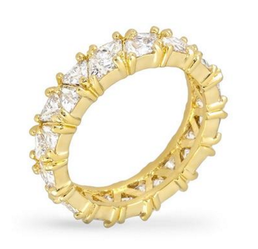 Bauble Box Jackie 2.8ct CZ 14k Gold Eternity Band $ 30.00