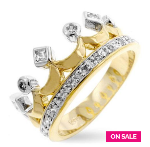 Bauble Box Two Tone Crown Ring $ 23.00