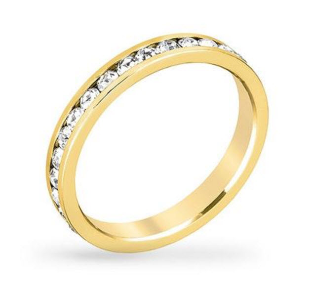 Bauble Box Tessa 3.5ct Crystal 14k Gold Eternity Band $ 17.00 Compare to $40.00