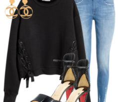 H&M Laced up Sweater and Red Bottoms