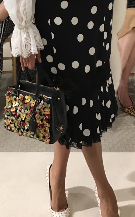 Dolce & Gabbana Lace-Trim Polka Dot Skrit