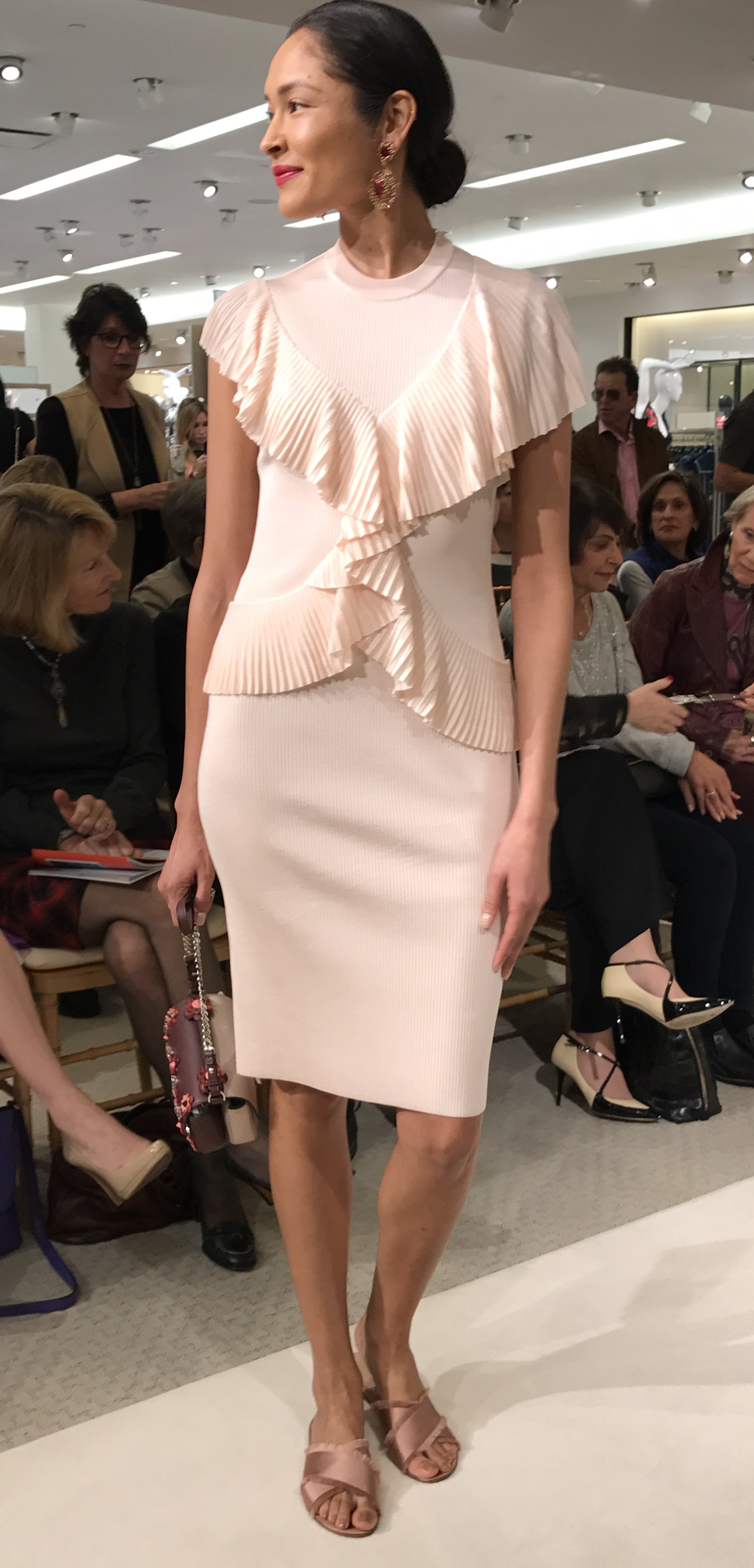 Givenchy Pleated Ruffle Dress