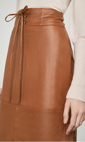 Percy Leather Pencil Skirt by BCBG