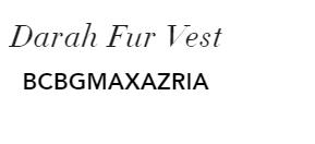 Darah Fur Vest BCBGMAXAZRIA